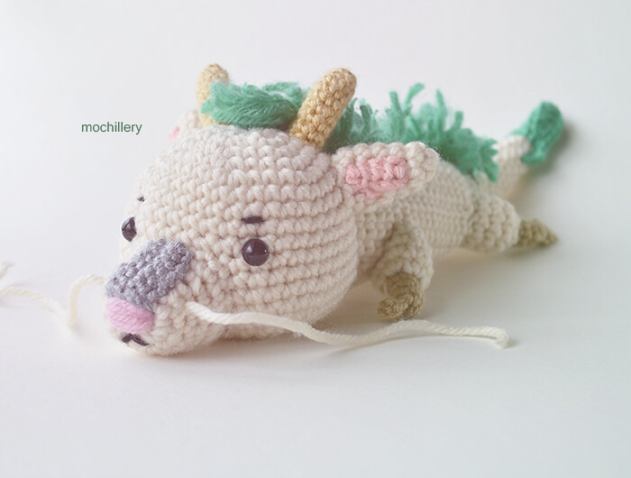 Crochet Amigurumi Dragon : Haku dragon haku from spirited away in chibi crochet amiu flickr