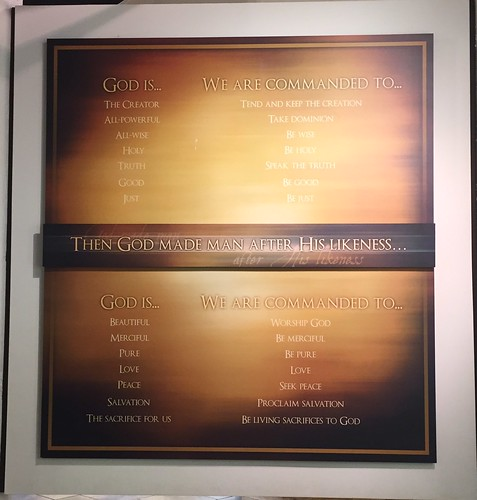 Then God Made Man After His Likeness (plaque)