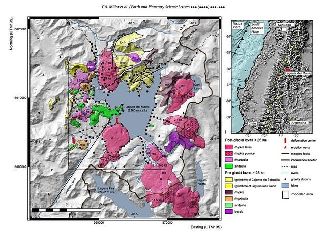 Mapa composicional del Complejo Volcánico Laguna del Maule