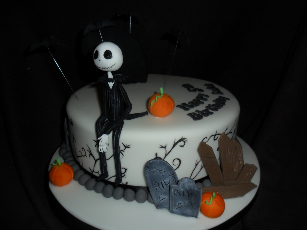 nightmare before christmas birthday cake by sprinkled with love cupcakes by lizzie sprinkledwi