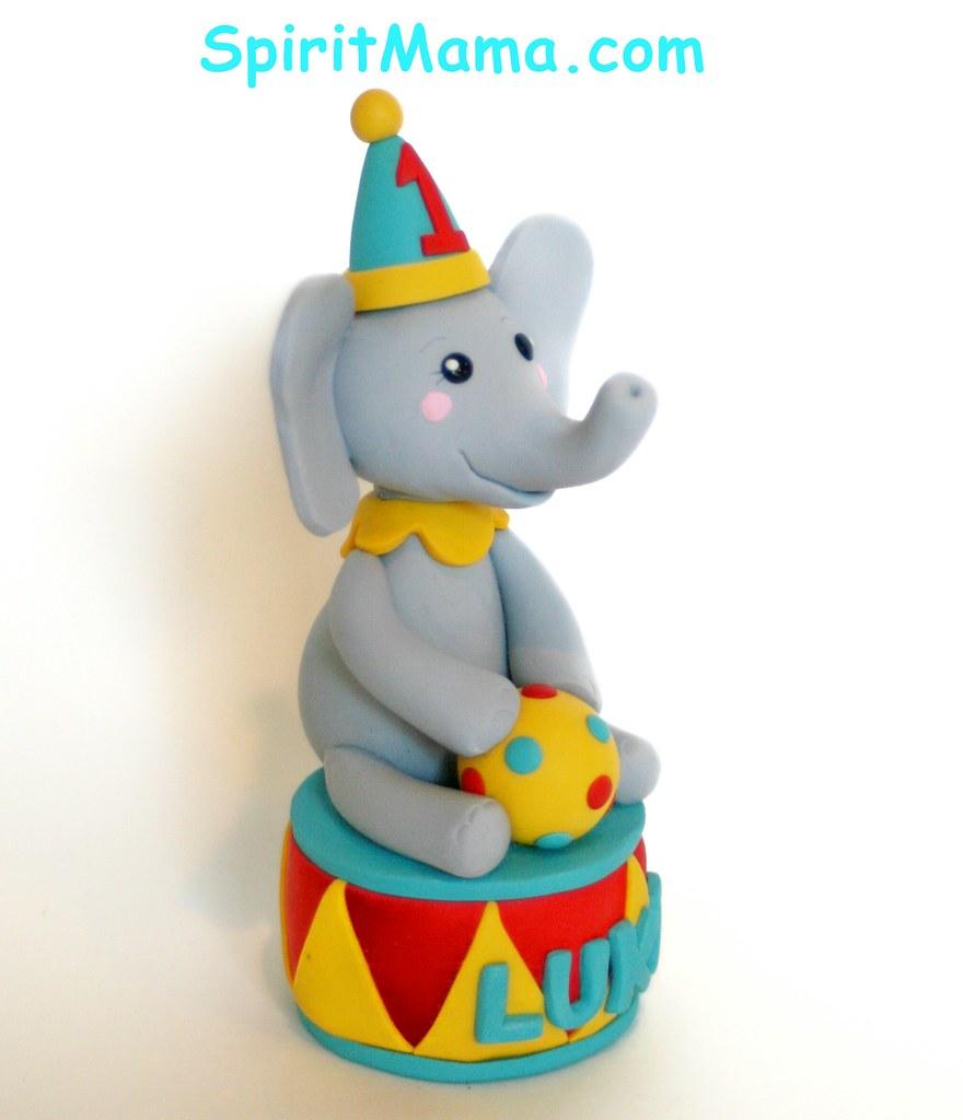 Circus Theme Birthday Cake Topper