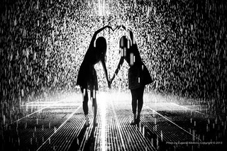 Together, Rain Room  installation by Random International, MOMA | by jev