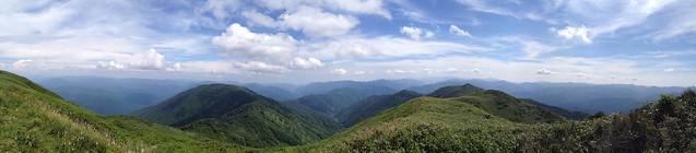 能郷白山 能郷白山神社奥宮からの眺望