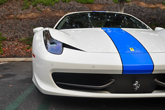 blue on white ferrari 458 spider by deano458 - Ferrari 458 Blue And White