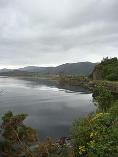 049 Eerste uitzicht op Eilean Donan Castle