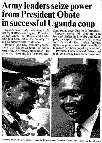 25th January 1971 - Coup in Uganda led by Idi Amin | by Bradford Timeline