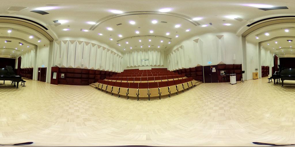 360-kuva Hannikaissalista Musiikkikampuksella