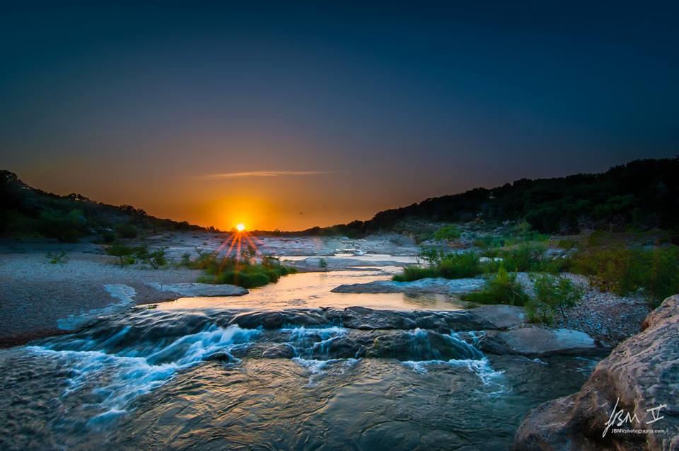 Image result for pedernales falls sunset