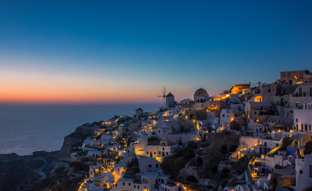 Blue hour at Oia,Santorini