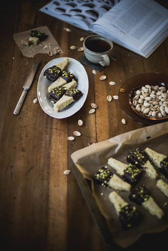 chocolate dipped pistachio shortbrea | by Beth Kirby | {local milk}