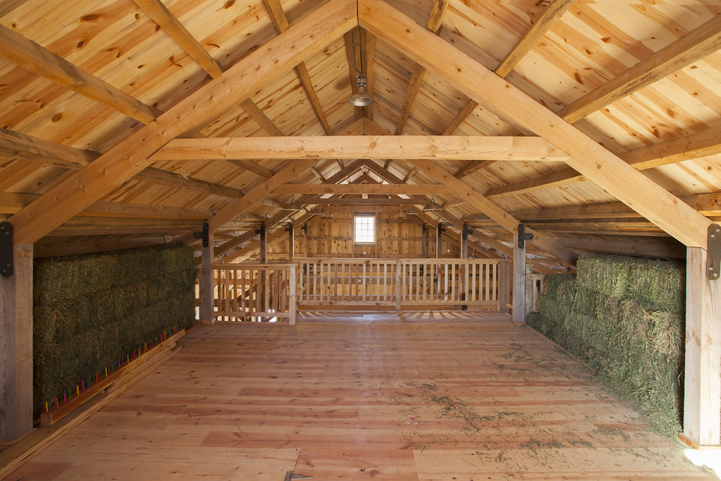 Hay Loft Inside A Ponderosa Country Barn In Iowa