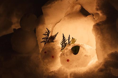 Snow rabbits / 雪うさぎ