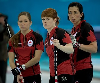 Sochi Ru.Feb17-2014.Winter Olympic Games.Team Canada,third Kaitlyn Lawes,lead Dawn McEwen,second Jill Officer.WCF/michael burns photo | by seasonofchampions