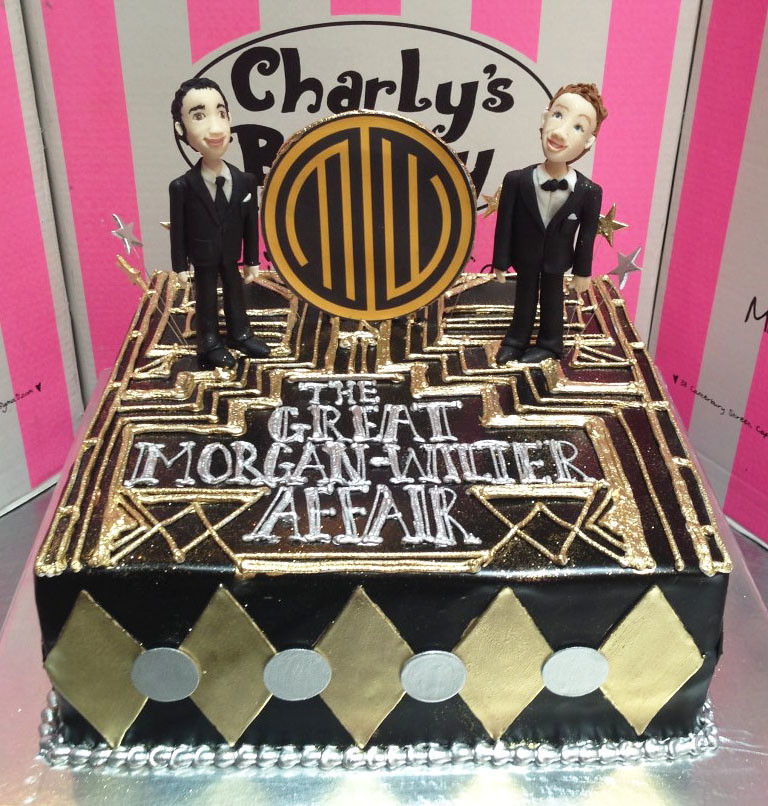 The Great Gatsby Affair Themed Engagement Party Cake With Flickr