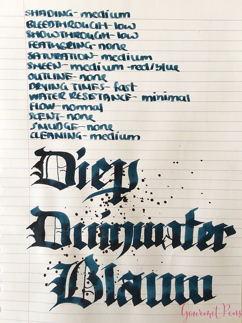 Ink Shot Review P.W. Akkerman Diep Duinwater Blauw @vulpennen 6