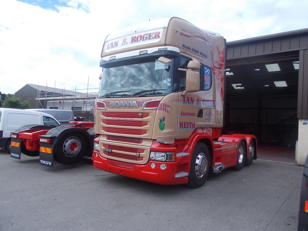 DSCN3989. Scania V8 R500 tag-axle Ian S Rodger Keith | Flickr
