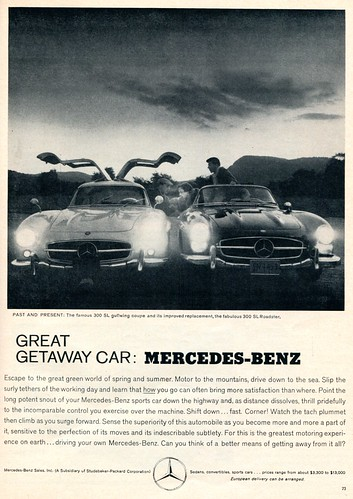 1960 mercedes benz advertising sports car illustrated july for Mercedes benz new advert