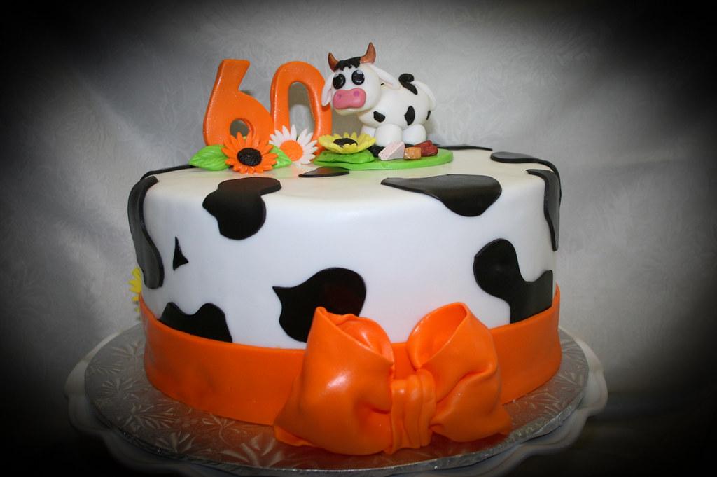 60th Cow Print Birthday Cake Alicia Bryson Flickr