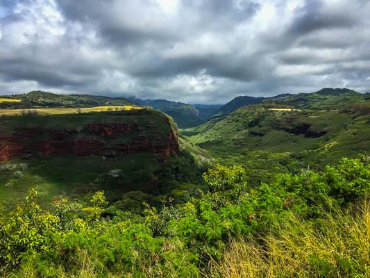 Driving To Waimea Canyon Kauai Hawaii