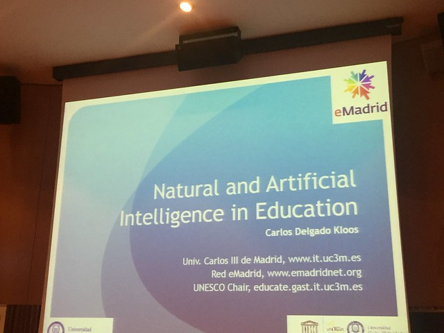 "17-03-2017 Seminario eMadrid sobre ""Inteligencia natural y artificial en educación"""