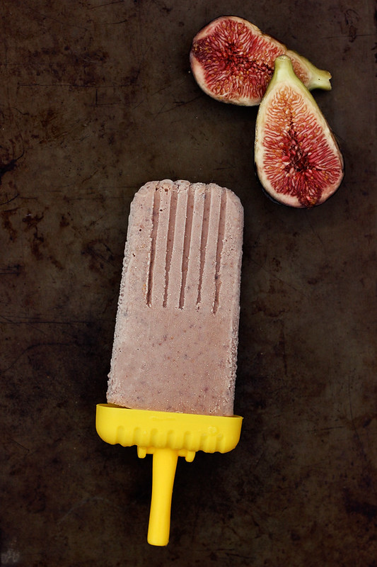 Roasted Balsamic Fig Popsicles - {Dairy-free w/Vegan Option}