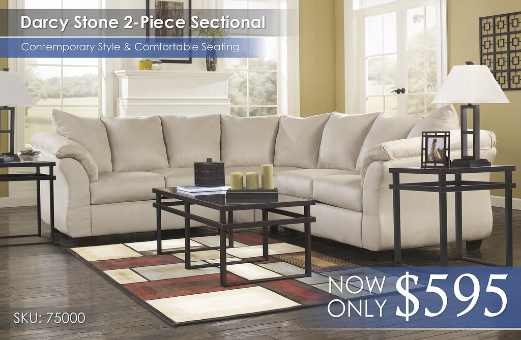 Darcy Stone Sectional 75000-55-56-T180