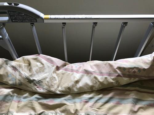 病室のベッドをソファーに変える便利アイテム