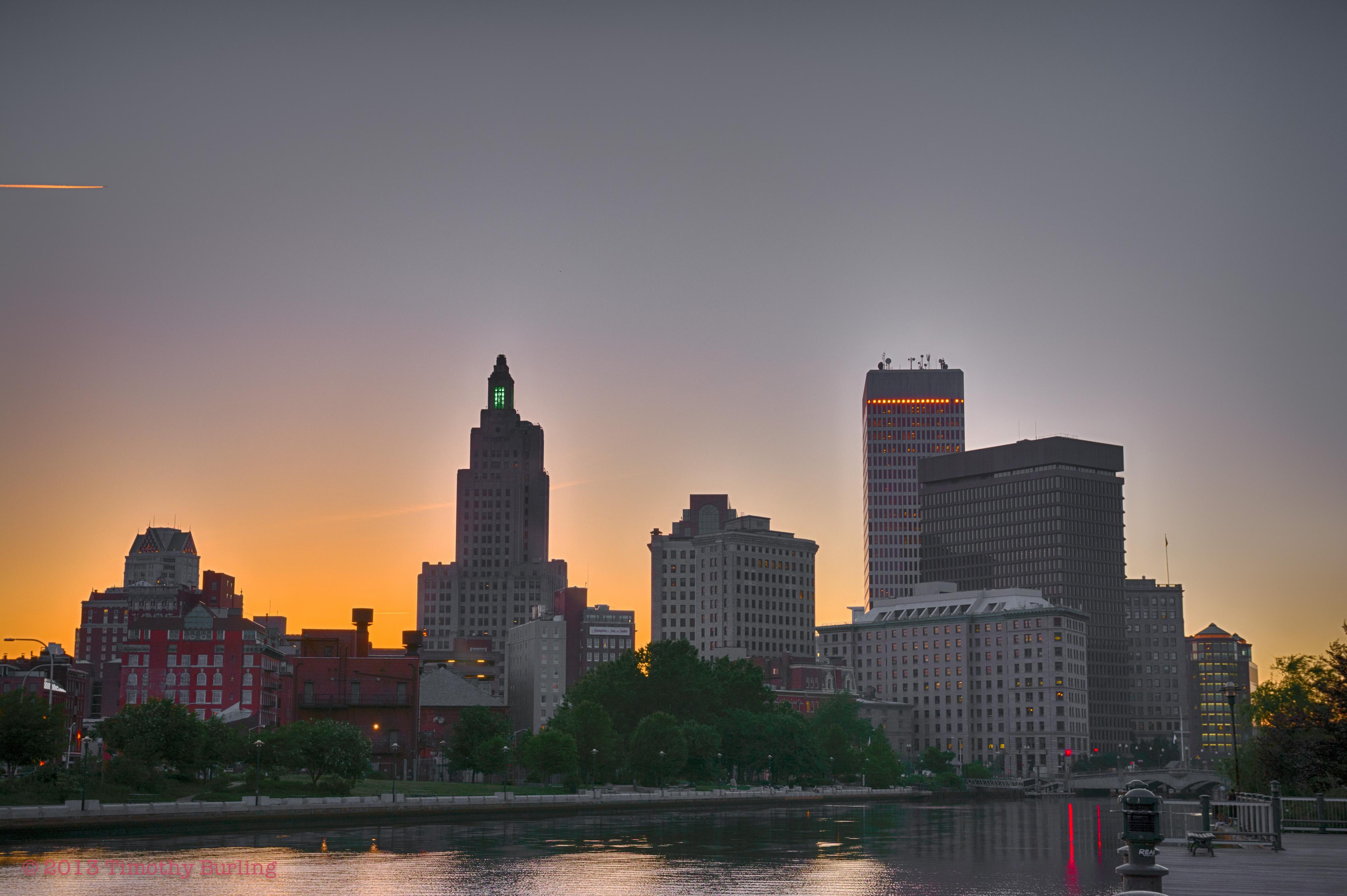 Providence evening skyline