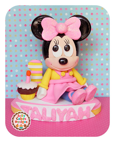 minnie mouse cake topper baby minnie cake topper handcrafted keepsake cake topper 5944