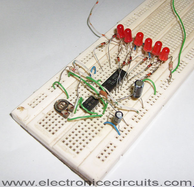 Led Knight Rider Circuit Diagram Using 4017 And 555 Ics Flickr