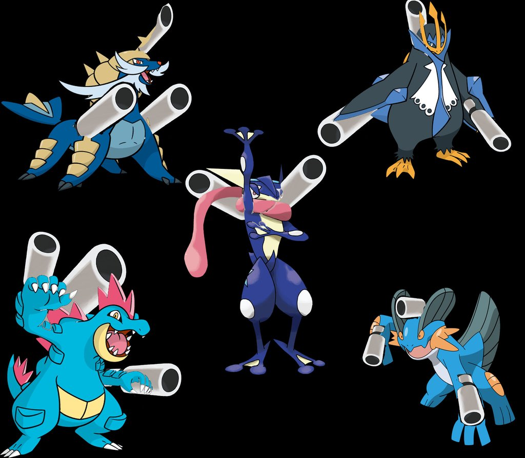 as requested all water starter megas pokemon fans tumblr flickr
