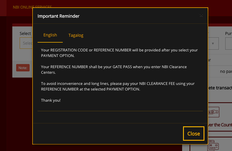 NBI Clearance Online - Important Reminder