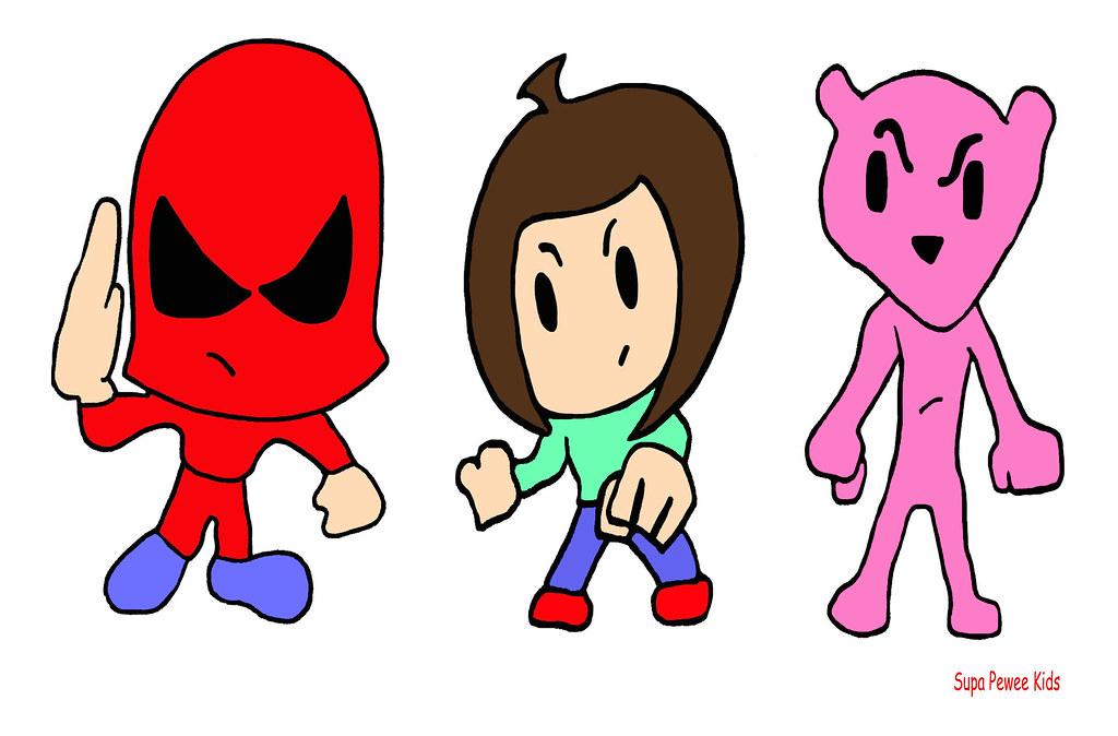 Super Pee Wee Kids B Pop Mason Valentine Pinkee T Cartoon Comic Book Animation