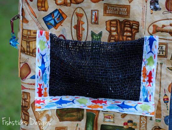 Fishsticksdesigns Fishermans Fidget Apron Net Pocket