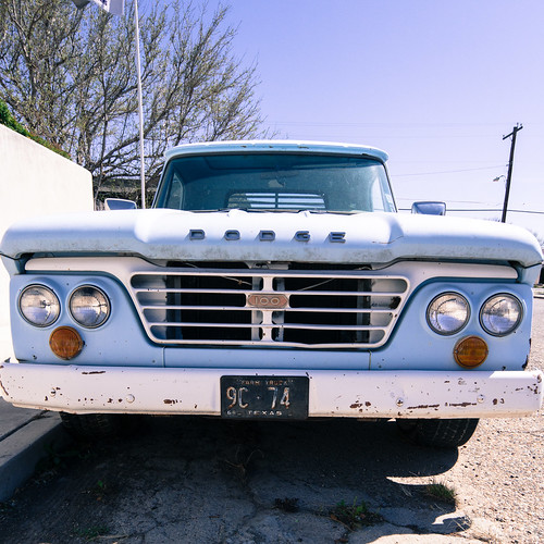 Blue Dodge Truck in Marfa | by nan palmero