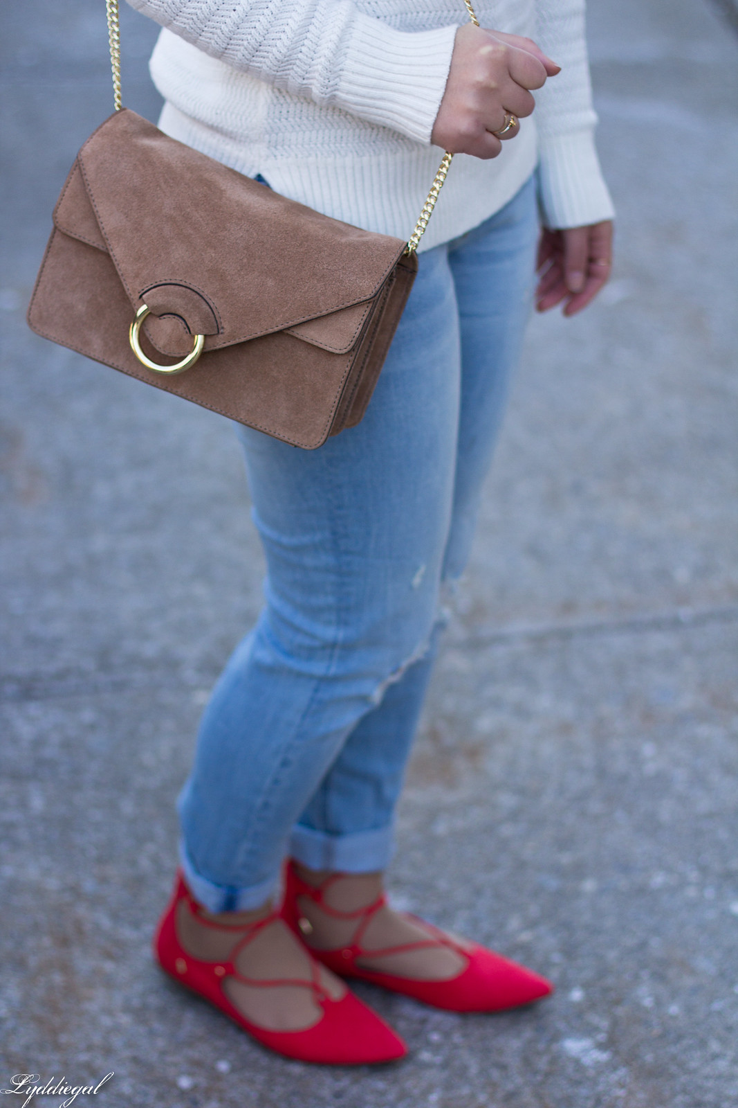 white sweater, distressed denim, laceup flats-4.jpg