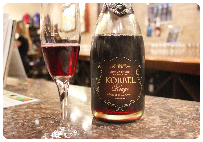 korbel champagne tasting
