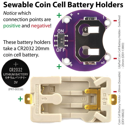 eTextiles: Interchangeable Battery Holders