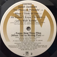 JANET JACKSON:CONTROL(LABEL SIDE-B)