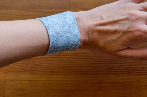 Completed Felt Wristband