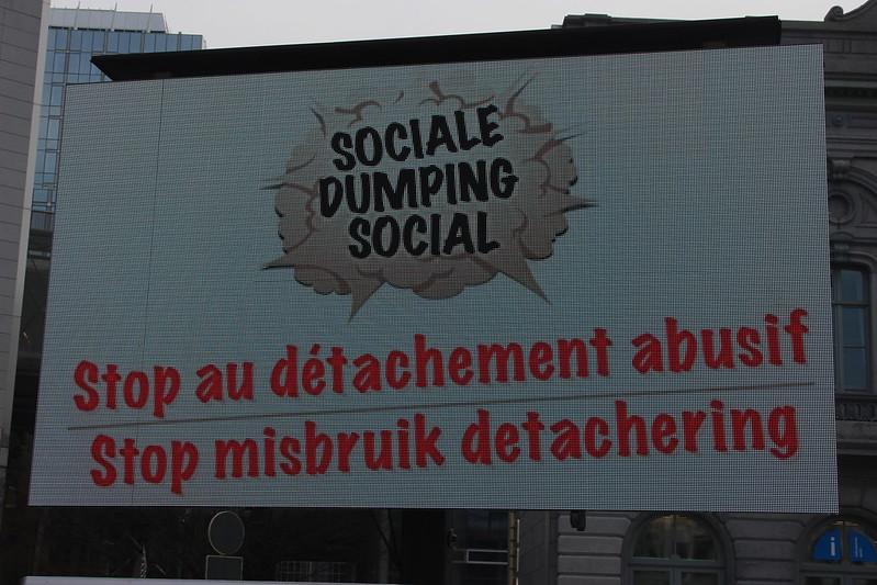 24 mars 2017 - Action contre le dumping social (Bruxelles)