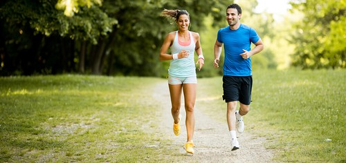 jogging and running