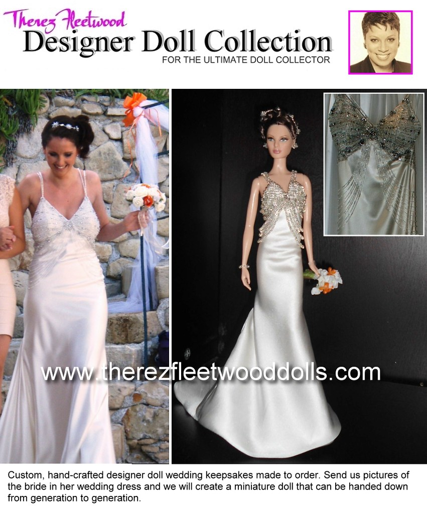 Barbie Wedding Dresses Custom Hand Crafted Designer Doll W Flickr