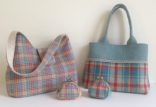 Irish tweed 100% wool handbags and matching coin purses | by My Cotton House