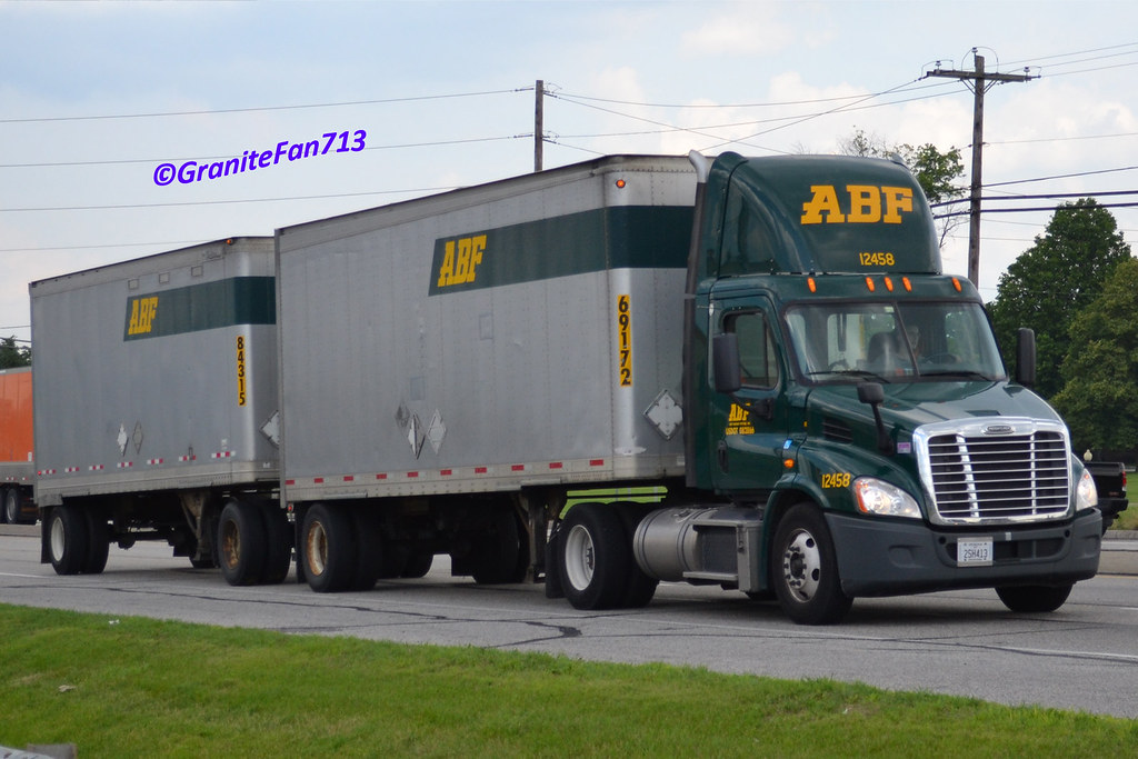 ... ABF Freight Freightliner Cascadia | by Trucks, Buses, & Trains by granitefan713