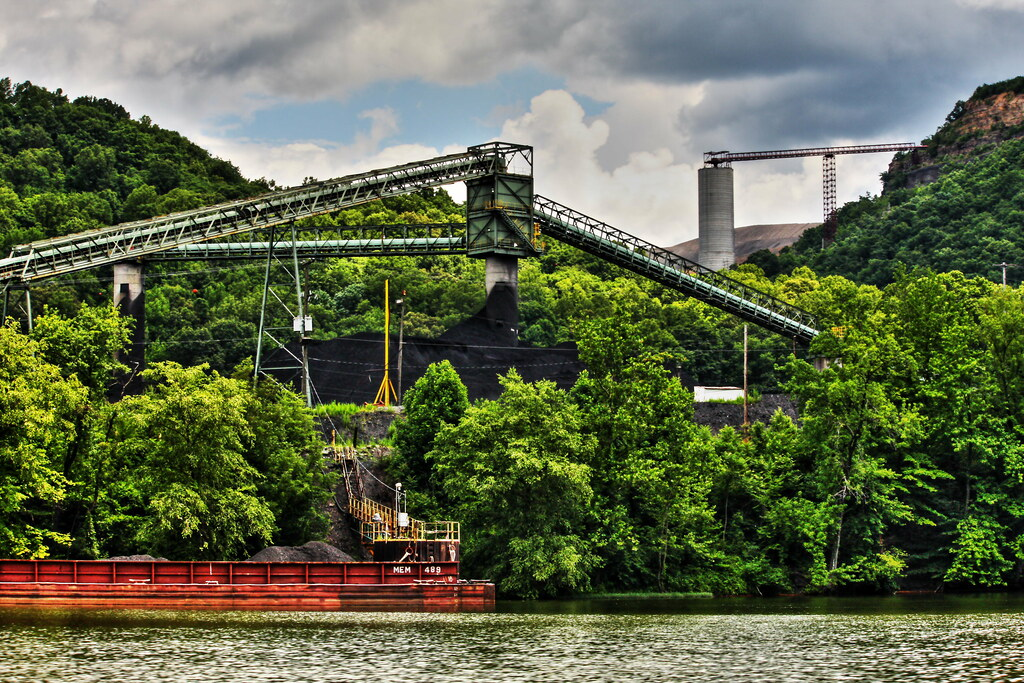 coal is mined here a coal preparation plant and barge load flickr