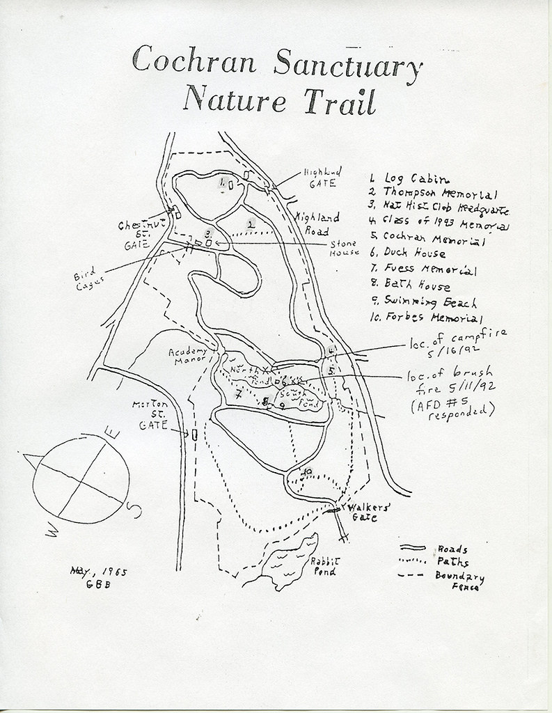 nature trail map cochran bird sanctuary 1965 phillips academy Diagram of New Moon andover nature trail map cochran bird sanctuary 1965 by phillips academy andover