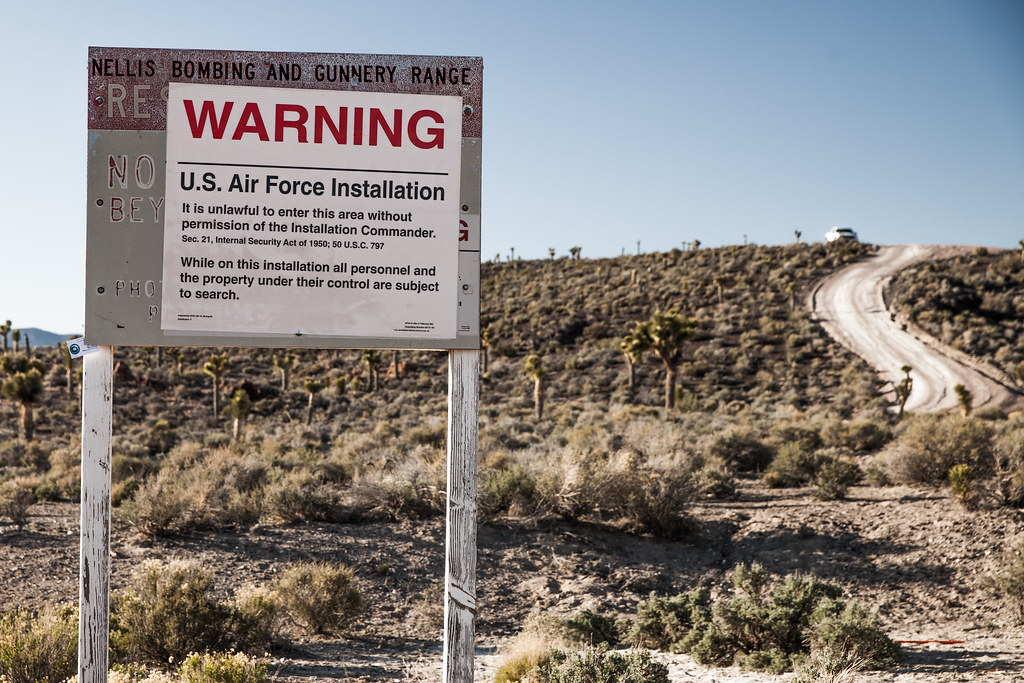 area 51 front gate security by miketheeye