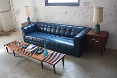 Dashing Mid Century Modern Expandable Slat Bench Coffee Tau2026 | Flickr