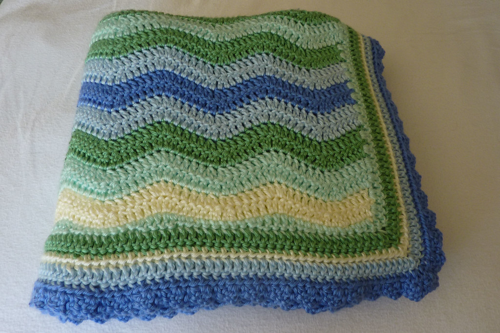 P1040262a Bluegreen Baby Blanket For Project Linus Verna47 Flickr